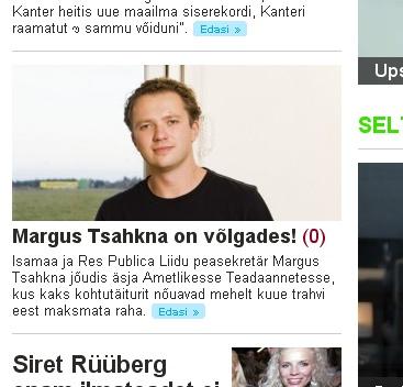 ekraanipilt www.kroonika.ee