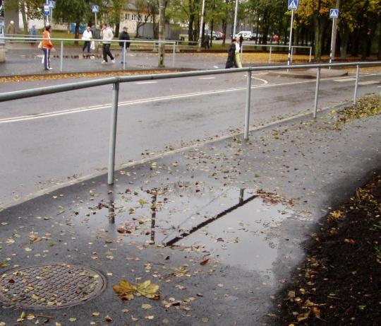 Lomp keset kõnniteed. Lähedusse jääb Sitsi trammipeatus. Foto Virgo Kruve