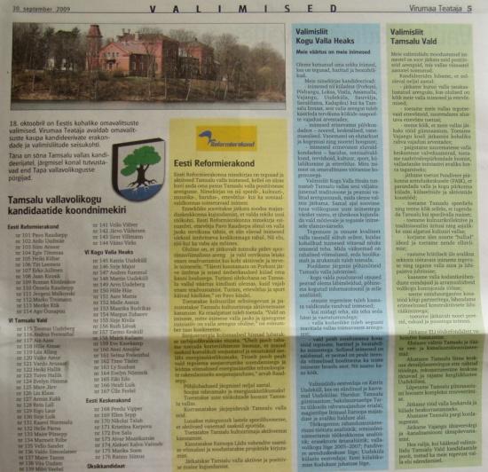 VT tamsalu vald debatt kandidaadid