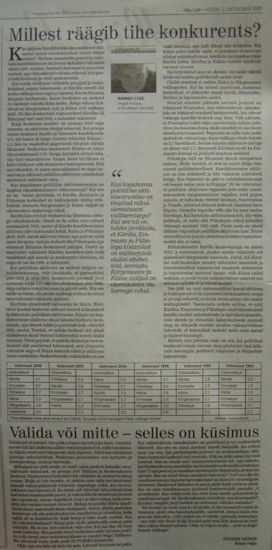 hiiu leht kohalike valimiste kandidaadid tihe konkurents
